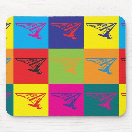 Hang Gliding Pop Art Mouse Pad