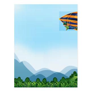 Hang gliding postcard