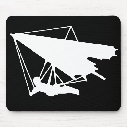 hang gliding silhouette mouse pad