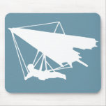 hang gliding silhouette mouse pads