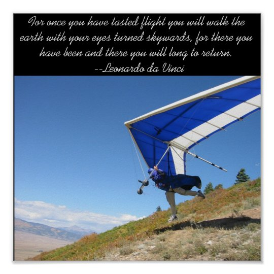 Hang Gliding Takeoff Poster