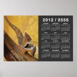 Hang Hod Naga 2012 / 2555 Buddhist Calendar Poster