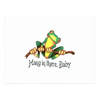 HANG IN THERE BABY POSTCARD