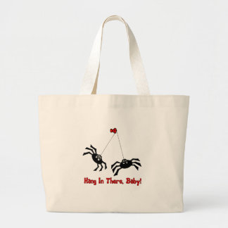 Hang In There, Baby! Spider Tote Bags