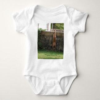 hang in there deer baby bodysuit