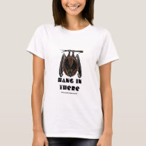 Hang in there funny bat t-shirt design
