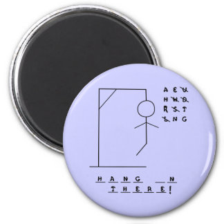 """""""Hang In There!"""" Hangman Game Magnets"""