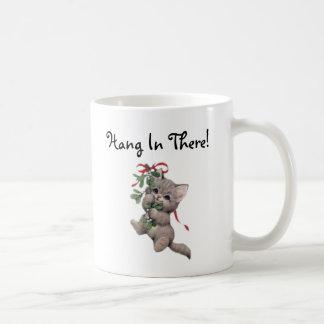 Hang In There Mistletoe Kitten Coffee Mug