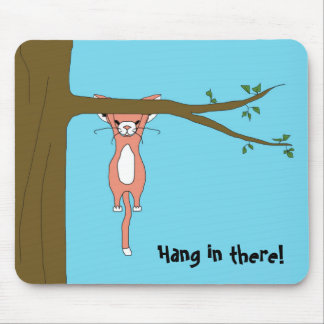 Hang in There Mousepad w/ Marshmallow the Cat