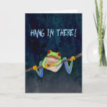 "Hang in There Red-Eyed Tree Frog Get Well Card<br><div class=""desc"">"" — um,  hanging over his head.  It's a funny way to tell someone to get well.