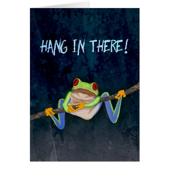 hang in there red eyed tree frog get well card. Black Bedroom Furniture Sets. Home Design Ideas