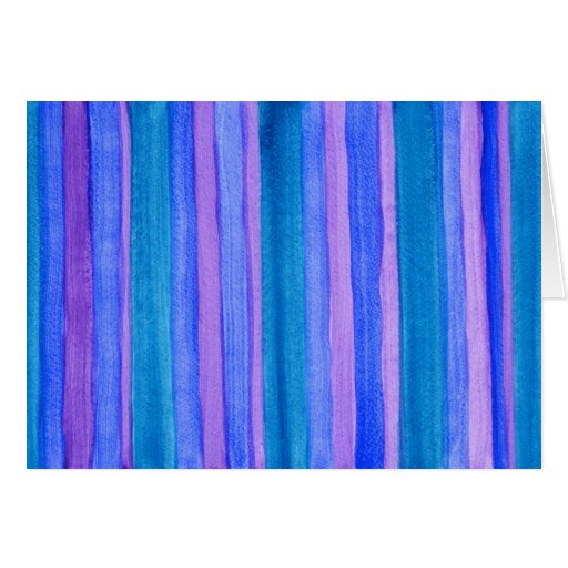 Hang in There—Turquoise, Blue, Violet Stripes Card