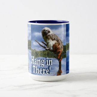 Hang in There! (with Text) Two-Tone Coffee Mug