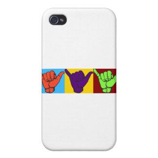 Hang loose ASL design iPhone 4 Covers