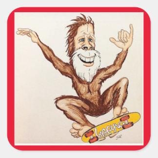Hang Loose Bigfoot! Square Sticker