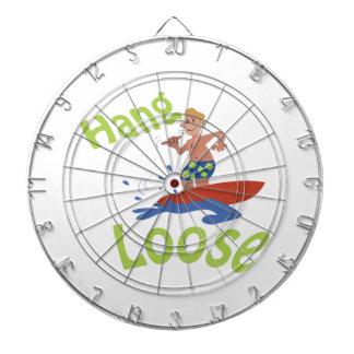 Hang loose dartboard