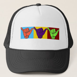 Hang loose design trucker hat