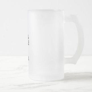 Hang Loose Frosted Glass Beer Mug