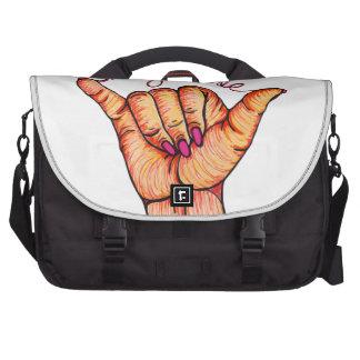 Hang Loose Hand Laptop Messenger Bag