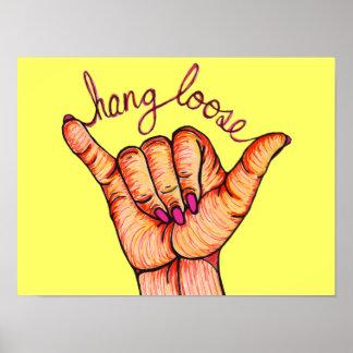 Hang Loose Hand Poster
