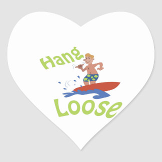 Hang loose heart sticker