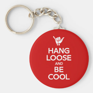Hang Loose Basic Round Button Keychain