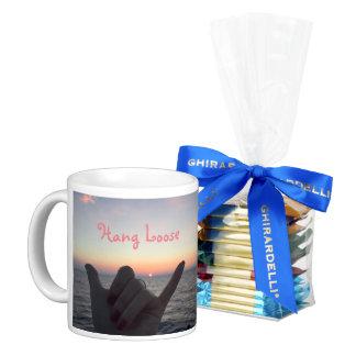 Hang Loose Maui, Hawaii coffee mug and chocolate