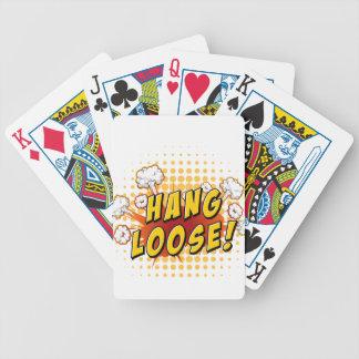 Hang loose bicycle playing cards