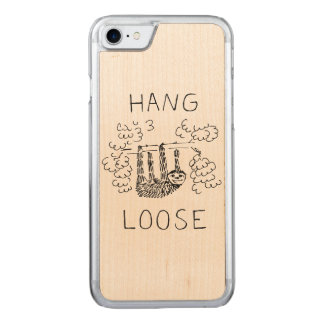 Hang Loose Sloth Carved iPhone 8/7 Case