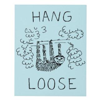 Hang Loose Sloth Panel Wall Art