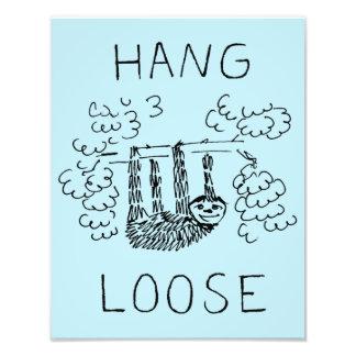 Hang Loose Sloth Photo Print