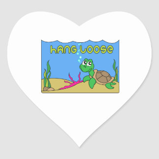 Hang Loose Heart Stickers