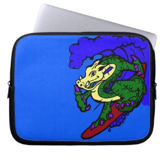 Hang Loose Surfing Dragon Computer Sleeve