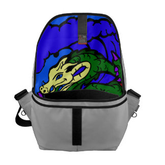 Hang Loose Surfing Dragon Courier Bag
