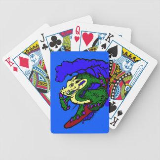 Hang Loose Surfing Dragon Bicycle Playing Cards