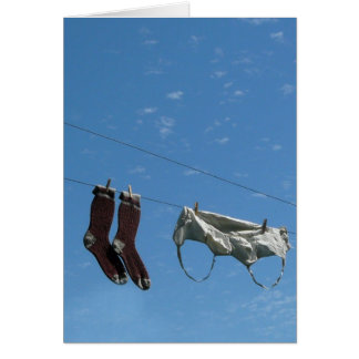 Hang me out to dry greeting card