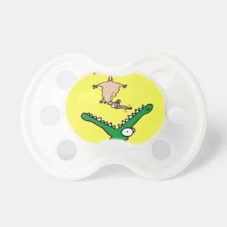 Hang On Alligator and Possum Pacifier