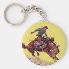 Hang On Cowboy Keychain