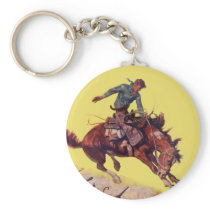 Hang On Cowboy Keychain