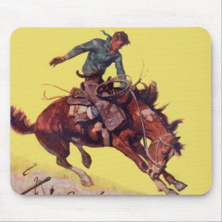 Hang On Cowboy Mouse Pad