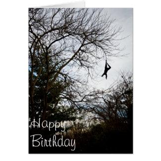 Hang On Happy Birthday Greeting Card