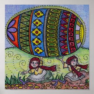 Hang on to Your Pysanka Ukrainian Folk Art Poster