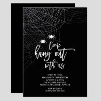 Hang out with us Spider Halloween Party Invitation