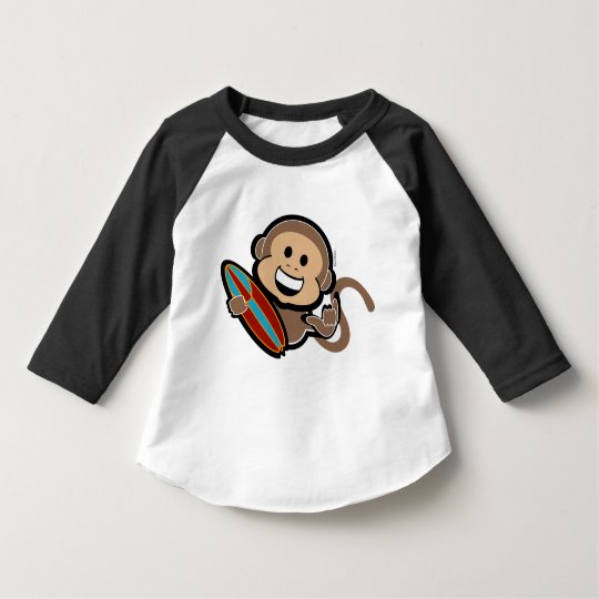 hang ten SURFING MONKEY boy gift shirt