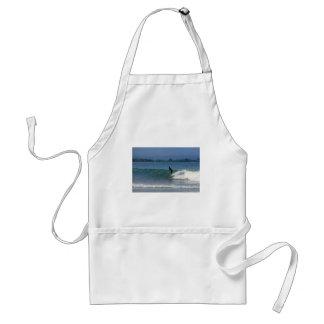 Hang ten surfing tropical coastline adult apron