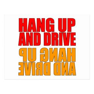 Hang Up and Drive Car Slogan Postcard