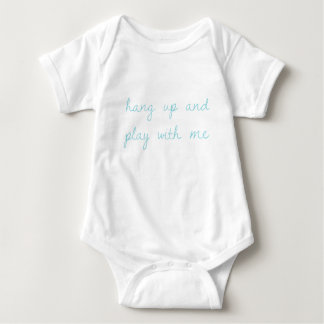 hang up and play with me. baby bodysuit