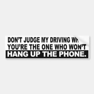 Hang Up Car Bumper Sticker
