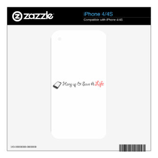 Hang Up To Save A Life - Gift Line Skins For iPhone 4