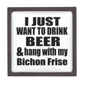 Hang With My Bichon Frise Keepsake Box